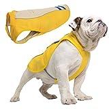 SymbolLife Kühlweste für Hunde Vest Selbstkühlend Atmungsaktiv Blau/Gelb (S, Gelb)