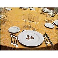Nombres Decorativos. Marcasitios Personalizados de Madera de 3mm de MDF. Para decoración de Hogar, Bodas, Comuniones, Bautizos, Cumpleaños.Regalo para invitados.
