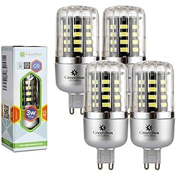 GreenSun - Lote de bombillas LED de bajo consumo, SMD 5736, corriente alterna 85