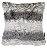 TOM TAILOR T-Fake FUR Kissenhülle, Polyester, grau, 40 x 40 x 1 cm