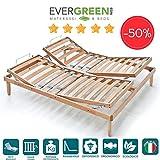 EVERGREENWEB MATERASSI & BEDS ⭐️⭐️⭐️⭐️⭐️ Orange Rete Manuale a doghe in Legno matrimoniale 160x190 cm