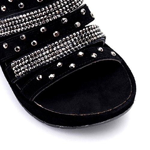 Cafènoir Hd610, Zapatillas De Mujer E15.010 Negro