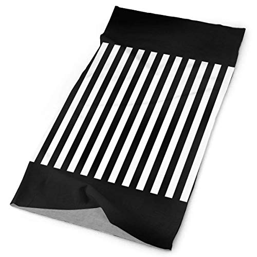 Wfispiy Black White Zebra Lines Stripe Headwrap Men Women Headwear Headband Neck Scarf Polyester Do Rag Cap Magic Head Scarf Bandana Casual Headdress Face Mask Neck Gaiter White Stripe Beanie