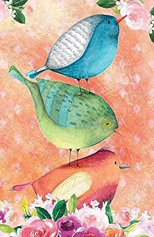 Bullet Journal For Bird Lovers Three Little Birds In Flowers: