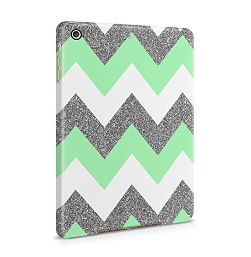 Green Chevron Glitter Sparkle Print Patttern Dünne Rückschale aus Hartplastik für iPad Mini 2 & Mini 3 Tablet Hülle Schutzhülle Slim Fit Case cover (Hipster Sparkle)