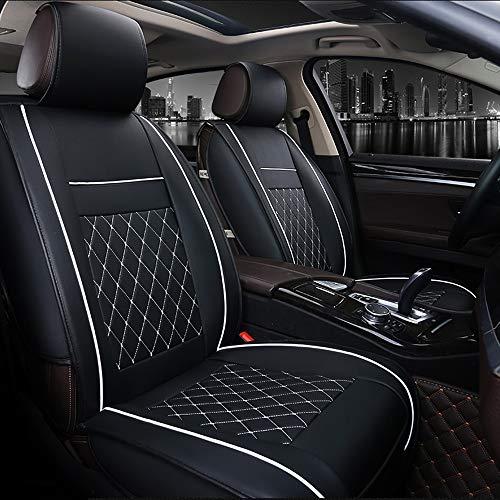DaFei Coprisedili per Auto, Set Completo 7 Posti Universali Airbag Compatibili Anteriore E Posteriore Imbottitura Traspirante Comfort Protector (Color : Black And White)