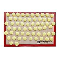 سجادة خبز من السيليكون، سجادة غير لاصقة، سجادة خبز مقاومة للحرارة، حصيرة بسكويت ورقة كاملة 11.80 بوصة × 15.75 بوصة صندوق واحد أدوات مطعم Full sheet RWA0201