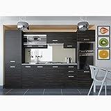 JUSThome Torino V Küchenzeile Küchenblock Küche 300 cm Länge Griffvariante I