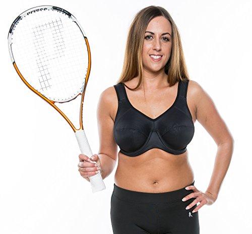 Gemm Plus Size reggiseno sportivo ad alto impatto non rimbalzo con ferretto Firm Support Corsa, (Big Sleepwear Alto)