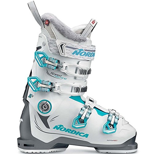 Nordica Damen 050H34-223 Skischuh Speedmachine 95 W Anthrazit/Weiß/Hellblau - MP 24,5