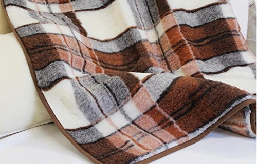 Merino Luxus Decke Wolldecke Schurwolldecke Wohndecke Tagesdecke, Woolmark Zertifiziert...