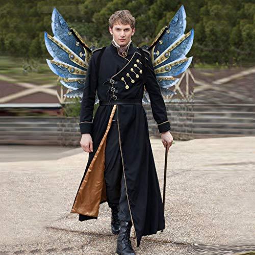 Und Kostüm Engel Freund Teufel - ZHANSANFM Kostüm Drachenflügel Cosplay Flügel Requisiten Gothic Engelsflügel Kostüm Zubehör Halloween Weihnachten Engel Teufel Flügel Faschingsflügel für Kinder und Erwachsene (M, Blau)