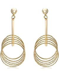 Spargz New Fashion Designer New Fashion Designer Gold Plated Alloy Metal Earrings For Women