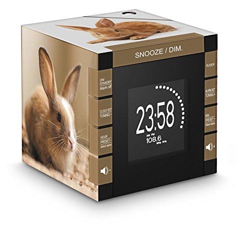 Bigben Interactive Radio Réveil avec Projecteur Radio Portable - Radios Portables (Horloge, Numérique, PLL, 87,5-108 MHz, LCD, AAA)