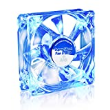 AAB Cooling Super Silent Fan 8 Blue LED - Un Silencioso y Muy Efectivo Ventilador 80mm con LED Azul | Ventilador de Portatil | Fan Cooler 8cm | Ventiladores PC | 33m3/h | 1600 RPM