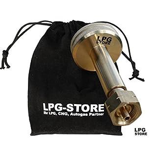 LPG-Store LPG GPL Autogas Tankadapter Dish Gasflaschen Propangas lang mit Stoffbeutel
