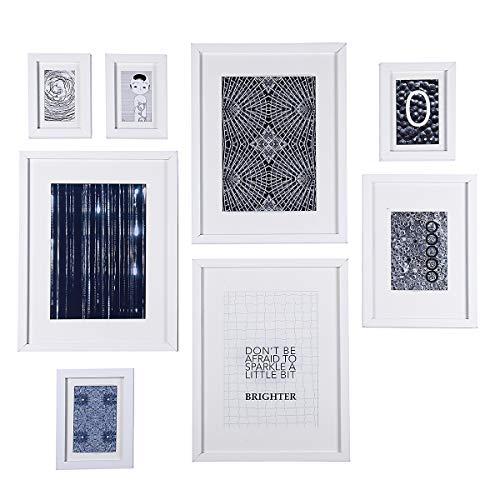 Conjunto marcos cuadros madera vidrio alta definición
