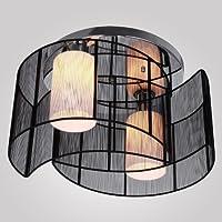 Luz de techo dormitorio de diseño moderno 2 luces negro, mini lámpara de estilo lámpara contemporánea para pasillo sala de estar comedor E27 lámpara de techo interior de metal iluminación de techo