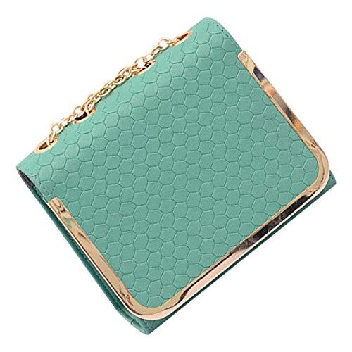 messaggero borsa - SODIAL(R)piccola borsa sacchetto dell'unita' di elaborazione Borse di cuoio del messaggero delle donne una spalla di colore della caramella della borsa epoca moda femminile rosa verde