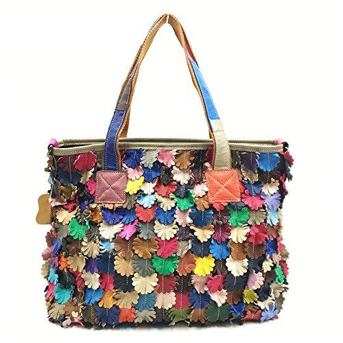 Lammfell Leder Hobo Handtaschen (Xuanbao-HB Damen-Damenhandtasche Frauen Soft Lammfell Leder Multicolor Tote Crossbody Umhängetasche Taschen Hobo Taschen)