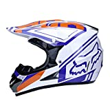 WZFC Crosshelm Motocross Enduro Downhill Helm Motorradhelm Integralhelm (Model-Fox-9),S