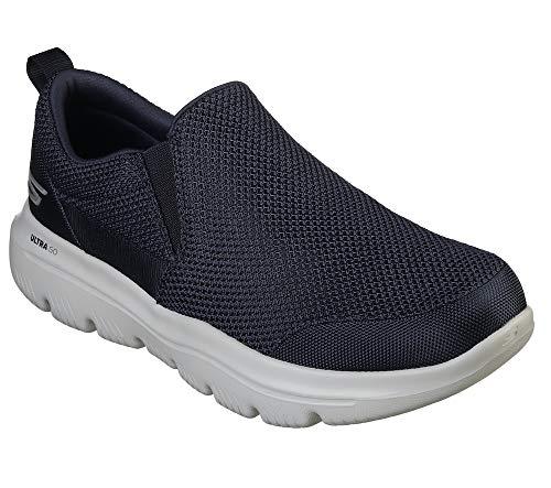 Skechers GO WALK EVOLUTION ULTRA-IMPEC, Men's Slip On Trainers, Blau (Navy Grey Nvgy), 47 EU (12 UK)