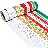 K-LIMIT 10er Set Washi Tape Dekoband Masking Tape Klebeband Scrapbooking DIY Weihnachten Christmas 9151