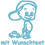 Babyaufkleber mit Wunschtext - Motiv 161 (16 cm) - 20 Farben und 11 Schriftarten wählbar