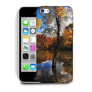 Snoogg Small Lake In Forest Printed Protective Phone Back Case Cover For Apple Iphone 6 / 6S
