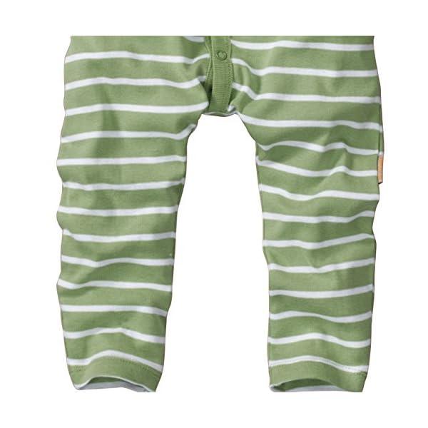 WELLYOU Pijamas para bebés y niños, Pijamas de una Pieza 100% Hecho de algodón, Color Verde con Rayas Blancas. Tallas 56-134 3