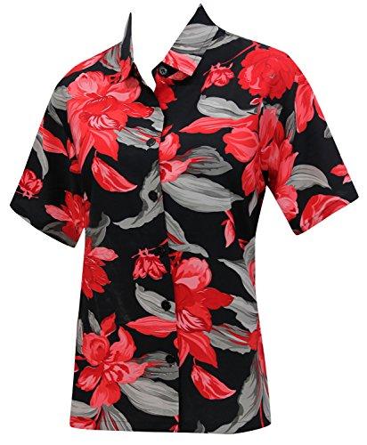 La-Leela-blusas-camisa-hawaiana-botn-hasta-la-playa-las-mujeres-usan-las-mangas-cortas-clsicas-negro