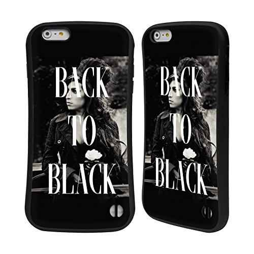 Officiel Amy Winehouse Back To Black Song Portraits Étui Coque Hybride pour Apple iPhone 6 / 6s Back To Black Song