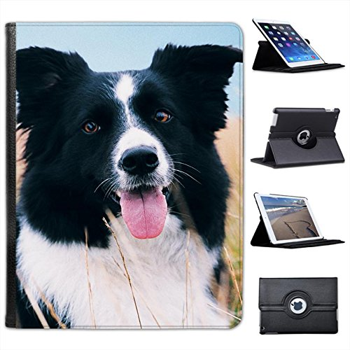 border-collie-dog-sitting-in-field-for-apple-ipad-2-3-4-faux-leather-folio-presenter-case-cover-bag-