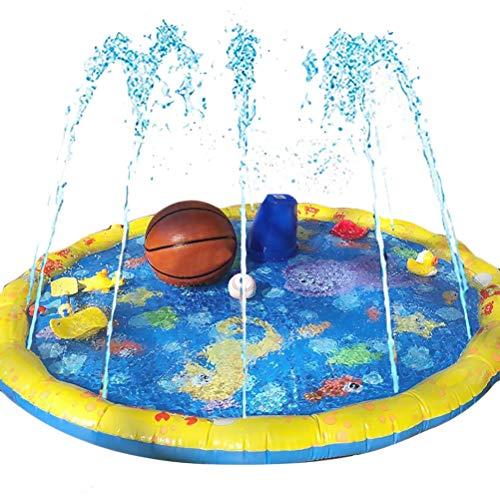 Heylas Splash Pad, Kids Water Sprinkle und Splash Play Mat Wasserspray Toy Kinder Baby Pool Pad Sommer Spaß Strand Outdoor für Babys und Kleinkinder -