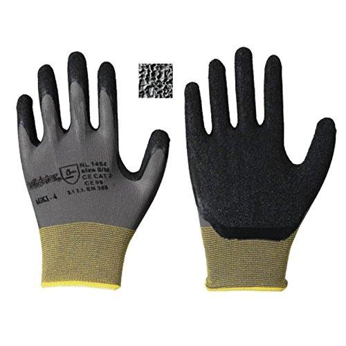 Leipold Paire de gants latex maille de Gris, gris
