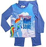 My Little Pony Kollektion 2017 Pyjama 92 98 104 110 116 122 128 Mädchen Schlafanzug Lang Rainbow Dash Fliederblau (Fliederblau, 110-116; Prime)