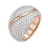 ESPRIT Glamour Damen-Ring ES-ATROPIA ROSE teilvergoldet Zirkonia transparent Gr. 60 (19.1) - ESRG02844C190