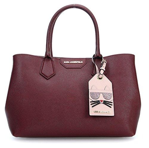 karl-lagerfeld-womens-66kw3058501-burgundy-leather-tote