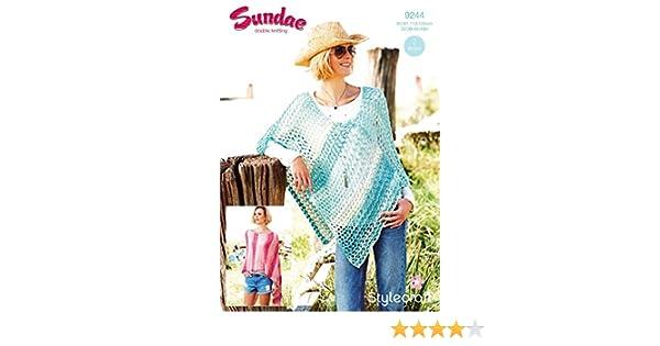 Stylecraft 9244  Knitting Pattern Ponchos in Sundae DK