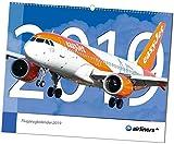 airliners.de Flugzeugkalender 2019 - Großformat 48cm x 38cm - aktuelle Flugzeuge und Fluggesellschaften - Airbus, Boeing und andere Verkehrsflugzeuge