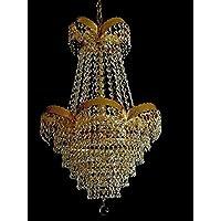 Schicker Orientalischer Kristall Kronleuchter Mit Echtem Kristall U0026 Metall  Rahmen. Abbildung In Goldfarben.
