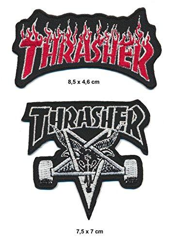 Trasher parche planchar Patch 2pieza Skater Magazine