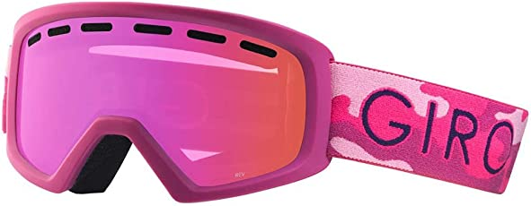 Giro Kinder Schneebrille Rev Pink Hideout Youth Goggle