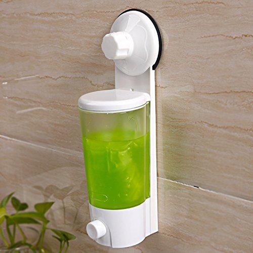 Plastique solide Ventouse Distributeur de savon Lavage à la main/corps Pissette