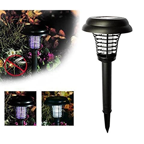 QUINTRA Solar Powered LED Light Mosquito Pest Bug Zapper Insect Killer Lamp Garden Lawn