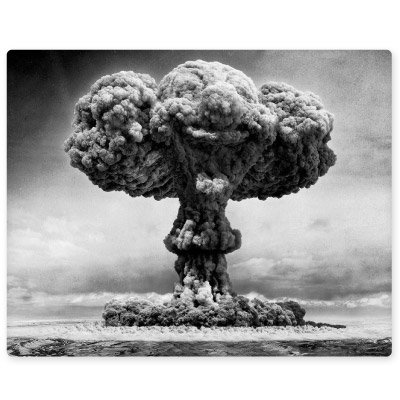 Atomic Bomb Explosion Nuclear Mushroom Cloud Vinyl Sticker - 6-Inch -