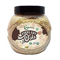 Nutriorg USDA Certified Organic Gluten Free Steel Cuts Oats 750gms