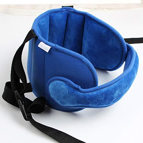 Qiuxiaoaa Baby Sicherheit Kissen Kopf Feste Schlafkissen Autositz Kind Kopf Nackenschutz Auto Memory Foam Kissen Einfach zu Tragen Blau