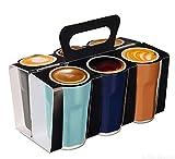 ASA - Crazy 6er Set Espressobecher - Nuance - Ø5,5 x H8 cm - im Geschenkkarton