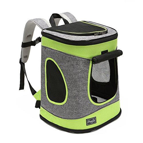 Petsfit Stoff Faltbarer Haustiertragetasche für Hunde und Katzen, Farbe Grau, Rucksack, 43cm x 32cm x 29cm